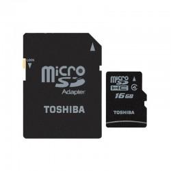 CARTAO MICROSD TOSHIBA M102 C4 16GB C/ADAPT.
