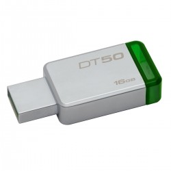 PEN KINGSTON 16GB DT50 USB 3.0 METAL/GREEN