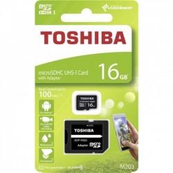 CARTAO MICRO SD TOSHIBA M203 CLASS10 16GB C/ADAPT.