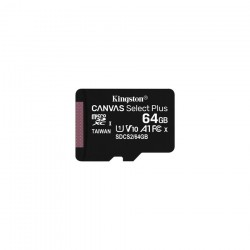 CARTAO MICRO SD KINGSTON CANVAS 64GB C/ADAPT